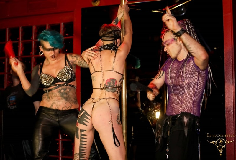 People playing in Germany bdsm club erotic games