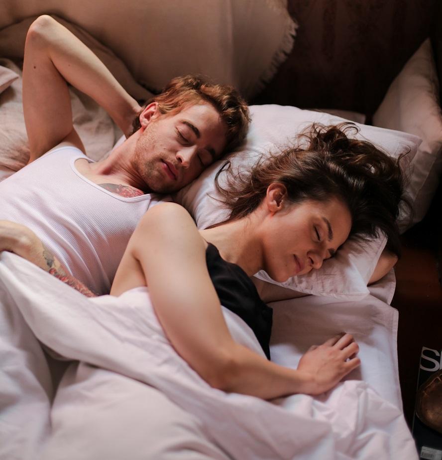 after girl and guy sleep together
