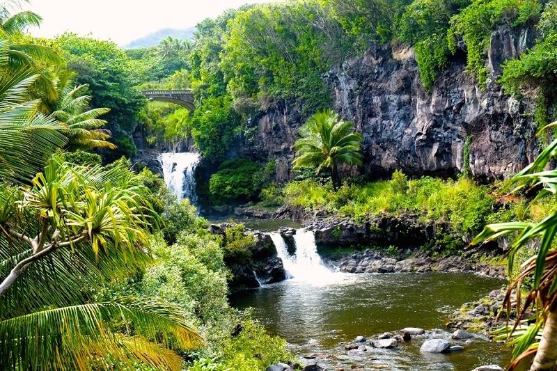 manao waterfall getting laid Hawaii