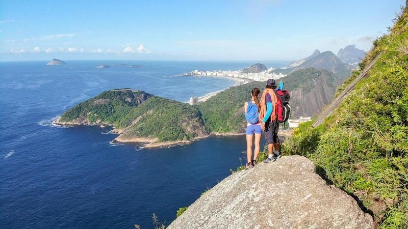outdoor sex on top Rio de Janeiro mountain
